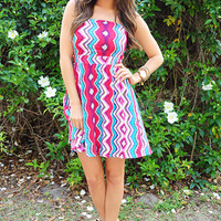 Snap And Flutter Dress: Multi