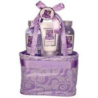 Morgan Avery Bath and Body Tote Bag Gift Set, Lavender