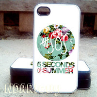 5SOS Vintage Logo - iPhone 4/4s/5/5c/5s Case - Samsung Galaxy S2/S3/S4 Case- Blackberry z10 Case- iPod 4/5 Case - Black or White