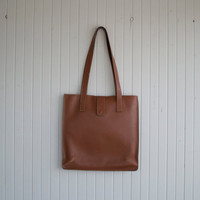 Vintage Brow Leather Tote by Maurizio Taiuti