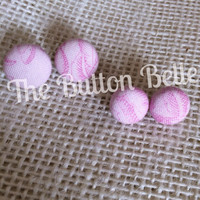 Pinkaholic Cover Button Earrings