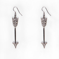 Papaya Clothing Online :: RHINESTONED ARROW EARRINGS
