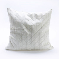 Medium Origami Throw Pillow Cover in White