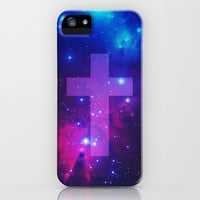 Space Cross iPhone & iPod Case by hyakume
