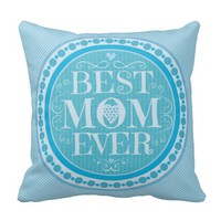 Best Mom Mother's Day Throw Pillow