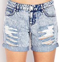 Throwback Acid Wash Denim Shorts