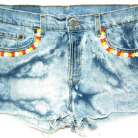 Acid Wash Daisy Cutoffs