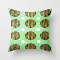 Greens Throw Pillow by DuckyB (Brandi)