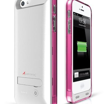 Alpatronix BX120 Extended Protective Battery Charging Case for iPhone 5S/5 with Ultra Slim Removable Rechargeable External Battery and Built-In Stand: MFi Apple Certified / iOS 7+ Compatible - Fits all models of the NEW Apple iPhone 5S / iPhone 5 and featu