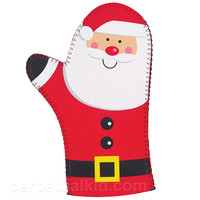HOLLY JOLLY SANTA OVEN MITT
