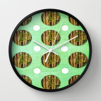 Greens Wall Clock by DuckyB (Brandi)