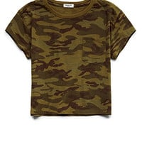 Camo Cool Pocket Te