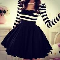 CUTE GRAIN BOWKNOT FASHION DRESS