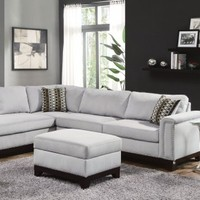Mason Blue Grey Sectional, 503615, Coaster Furniture