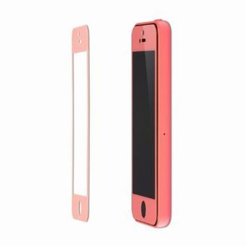Colored Premium Tempered Glass Screen Protector for iPhone 5C 5S 5 Pink