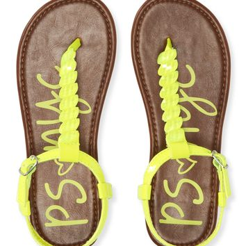 KIDS' NEON FAUX GEM SANDALS