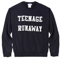 Teenage Runaway Sweatshirt (Black) - London Loves LA