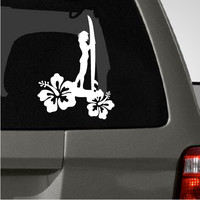 Surfer Girl Car Decal