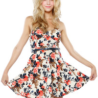 Papaya Clothing Online :: FLORAL BELTED FLARE DRESS