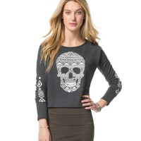 Southwest Skull Cropped Sweatshirt