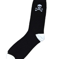 Skull and Crossbones Socks Mens Size 8-12 - Default Title