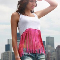 Multi Tank Top - Mariah Fringe Top | UsTrendy
