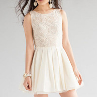 JUN & IVY LACE COMBO DRESS