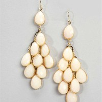 Gold/Ivory Chandelier Earrings