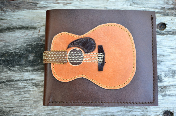 Men Wallet Acoustic guitar by fullmoonn on Etsy