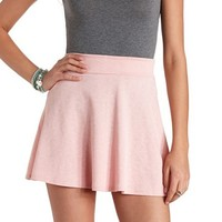 TEXTURED HIGH-WAISTED SKATER SKIRT