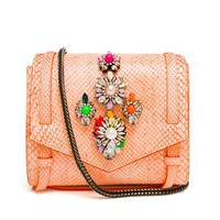 SHOUROUK | Embellished Python Satchel | Browns fashion & designer clothes & clothing
