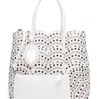 AZZEDINE ALAÏA | Laser-cut Leather Tote Bag | Browns fashion & designer clothes & clothing