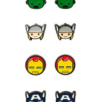Marvel Avengers Earrings 4 Pair