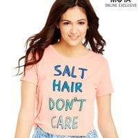 Salt Hair Cropped Graphic T