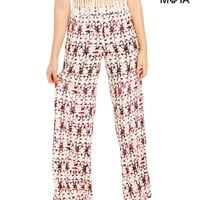 Butterfly High-Waisted Palazzo Pants