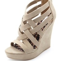 STRAPPY CAGED PLATFORM WEDGES