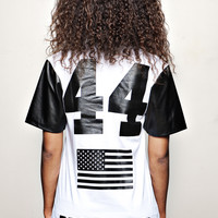"BARACK OBAMA 44th President T-shirt white ""F"" 
