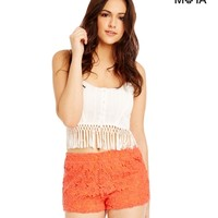 Lace Knit Shorts