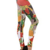 Carrie's Closet - asian inspired floral footless tights -- SHEER