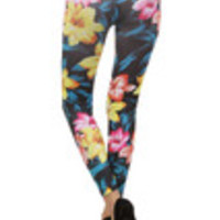 Carrie's Closet - Avatar Floral Footless Tights -- SHEER
