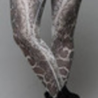 Carrie's Closet - snake patterned plus size leggings with white waistband