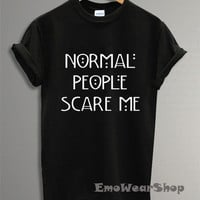 American Horror Story Shirt Normal People Scare Me Shirt T-shirt Black AS-2
