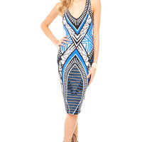 Horizon Bodycon Midi Dress