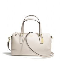 SAFFIANO MINI SATCHEL IN LEATHER