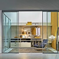 Sectional custom walk-in wardrobe GLISS WALK-IN Gliss Collection by MOLTENI & C. | design Molteni Design Team