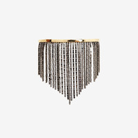 FALLON LIQUID FRINGE PALM CUFF: GOLD