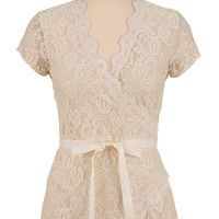 wrap lace top with tie sash