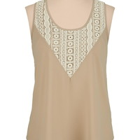 crochet front split back tank