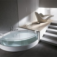 Corner whirlpool bathtub VIEW ANGOLO View Collection by TEUCO GUZZINI | design Lenci Design