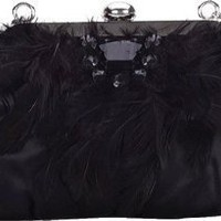 Coloriffics Handbags Satin w/ Feather Accents